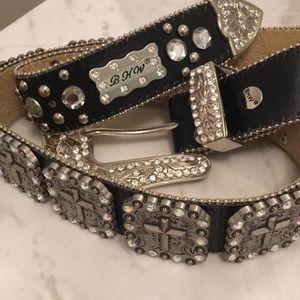 BHW glam studded belt plenty of Bling size M
